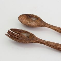 Kitchenware : Deluxe Wooden Fork and Spoon Set, Mango Wood Ormosia Texture LNC-KW-1460103