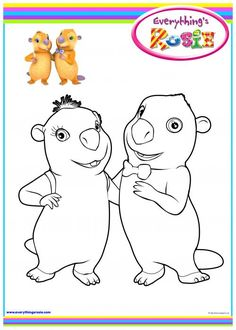 everythings rosie coloring book pages - photo#15