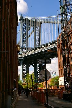 DUMBO (down under manhattan bridge overpass) Brooklyn, NY. I absolutely loveeeeee this place on summer days and nights Brooklyn New York, New York City, Manhattan Bridge, Empire State Of Mind, My Kind Of Town, City That Never Sleeps, Dream City, City Photography, Adventure Is Out There