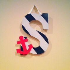 Nautical Letter Decoration on Etsy, $9.00