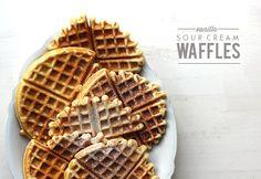 Vanilla Sour Cream Waffles