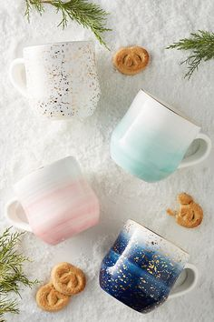 Pastel gradient or speckled mugs that are a much-needed upgrade from a cabinet full of lame, free mugs.   32 Gifts That Are Prettier Than You