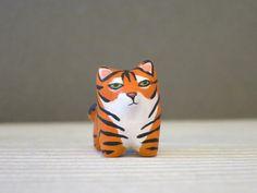 tiger totem   Tiger pocket totem figurine by HandyMaiden on Etsy