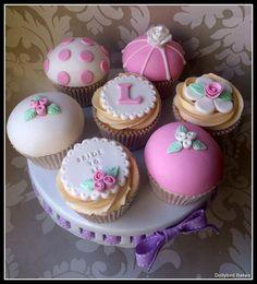 Cath Kidston themed cupcakes - by DollybirdBakes @ CakesDecor.com - cake decorating website