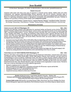 nice cool credit analyst resume example from professional check more at http - Sample Credit Analyst Resume