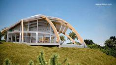 Arquitectura de Casas: Arquitectura en casa solar pasiva domo