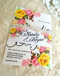 WEDDING INVITATION SUITE - Unique, Custom Designed Wedding Invitation Suite. Shabby Chic, Rustic and Vintage Inspired.. $5.00, via Etsy.