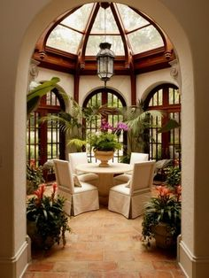 more beautiful arches:) ..i need this sun room too.