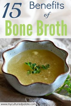 What if you could swap supplements for a nutrient dense real food whose nutrients are easily absorbed by your body? Now you can! Find out about the 15 Health Benefits of Bone Broth and why it should be part of your regular meal plan!