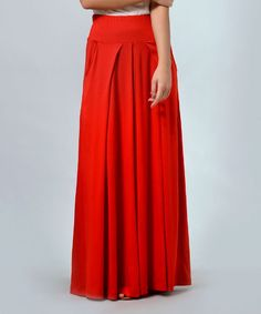 Red Maxi Skirt - Plus Too