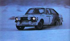 Bjorn Waldegaard / Thorszeluis (Ford Escort RS) 2ème du Rallye de Suède 1979 - L'automobile 1979.