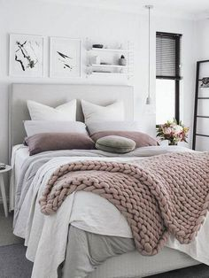 Home decorating ideas cozy brilliant minimalist bedroom ideas with black and white colors – awesome home design ideas and decor Bedroom Bed, Cozy Bedroom, Girls Bedroom, Bedroom Decor, Bedroom Ideas, Girl Rooms, White Bedroom, Bedroom Designs, Simple Bedroom Design