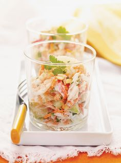 Pomelo and Spicy Crab Salad - Ricardo Steak And Shrimp, Fish And Seafood, New Recipes, Salad Recipes, Healthy Recipes, Seafood Recipes, Ricardo Recipe, Ceviche Recipe, Crab Salad
