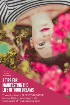 The law of attraction tells us that if we visualize our dreams in detail, we can manifest them into reality. But are you doing it right? Here are 3 tips (and a free worksheet!) for manifesting your dream life. #lawofattraction #thesecret #manifesting #visualization