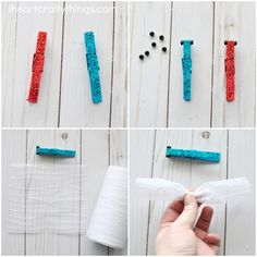 Sparkly Clothespin Dragonfly Craft | I Heart Crafty Things