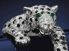 Cartier onyx and diamond panther bracelet, once owned by wallis simpson