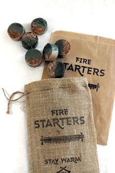 Firestarters - Camping fire starters - parafin wax x cedar scraps | Sanborn Canoe Co.