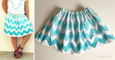Painted Flour Sack Towel Skirt - Cutesy Crafts