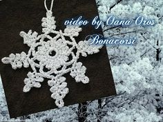 Fiocco di neve all'uncinetto | how to crochet a snowflake - YouTube