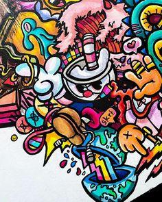 Art Drawings Sketches Simple, Cartoon Drawings, Cool Drawings, Vexx Art, Doddle Art, Graffiti Cartoons, Cool Doodles, Avengers Art, Doodle Art Designs