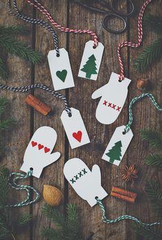 Diy Gift tags / DIY Julklappsetiketter - Evelinas Ekologiska