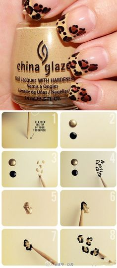 Hur man gör leopardmönstrade naglar