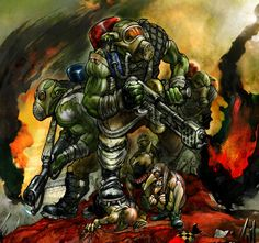 Warhammer 40k: Burna Boyz by ~Peter1punk on deviantART