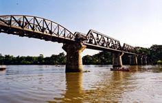 The Bridge on the River Kwai. Kanchanaburi, Thailand. April 2011