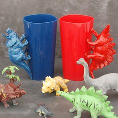 DIY Dinosaur Handle Cups are an inexpensive, easy project the kids will love!