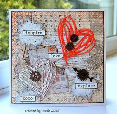 Tim Holtz scribbles & splat cards - Google Search