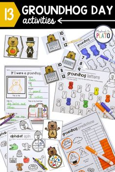 Groundhog Day is just around the corner and this pack makes it easy to add some motivating, groundhog-themed math and literacy centers to your lesson plans. Students will practice letter sounds, sight words, ten frames, graphing, 2D shapes and so much more. The set is perfect for pre-k, kindergarten or first grade.