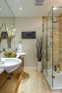 Get the wood floor look in your bathroom with tiles. We have plenty of wood grain tiles that are also great for kitchens and stairs.