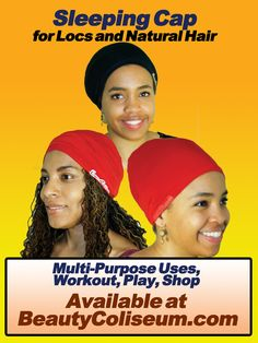 Sleeping Cap for Natural Hair and Locs - Sisterlocks, Dreads, Traditional
