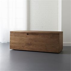 acacia storage bench  | CB2