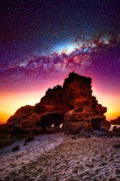 landscape stars nightscape Scenic vertical