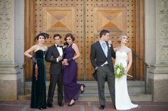 our long Julie dress in #Amethyst is perfect for a Great Gatsby inspired wedding!
