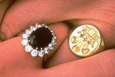 This is a  1981 file photo of the engagement rings of Britains Prince Charles and his fiance Lady Diana Spencer.  (AP Photo, Pool, File)