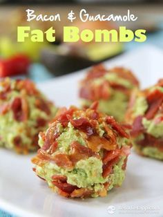 Bacon Guacamole Fat Bombs for low carb keto diet