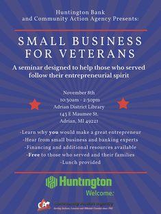 Huntington Bank, Great Entrepreneurs, Self, Action, Community, Shit Happens, Education, Learning, Business