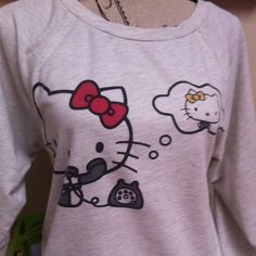 Hello kitty for forever 21 shirt Small spot pictured otherwise ok condition. Hello Kitty Tops