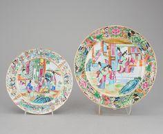 Par de pratos em porcelana Chinesa de Cantao do sec.19th, 24cm / 29cm de diametro, 520 USD / 470 EUROS / 1,630 REAIS / 3,200 CHINESE YUAN https://soulcariocantiques.tictail.com