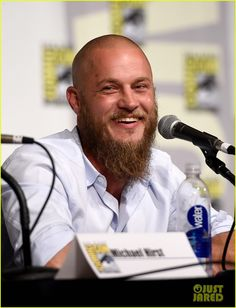 vikings cast steps out at comic con debuts new trailer 15 Travis Fimmel, Clive Standen, Katheryn Winnick, and Alexander Ludwig visit the Vikings exhibit set up during 2015 Comic-Con on Friday (July 10) in San Diego, Calif.…