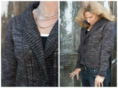 Dark and Stormy cardigan by Thea Colman - get the pattern at LoveKnitting!