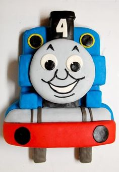 Here are the instructions for the Thomas the Train cake I posted about recently.   Items needed: 1 - 11x15 inch sheet cake 1 - 6 inch round ...