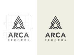 Arca music logo designs: gallery, tips, and best practices Best Logo Design, Graphic Design Branding, Corporate Design, Corporate Branding, Logo Branding, Monogram Design, Monogram Logo, Record Label Logo, Designers Gráficos