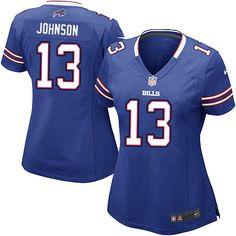 Womens Nike NFL Buffalo Bills http://#13 Steve Johnson Elite Team Color Blue Jersey$109.99