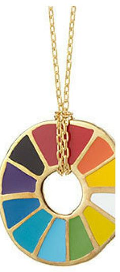I love this necklace! This is a perfect gift for my artistic friends! So colorful! #shopping #ad #jewelry