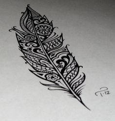 Design of feather from other painting....combine the two ideas...