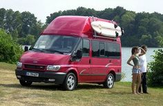 The Westfalia Nugget based on a Ford Transit van, has a a history of almost 30 years and is one of the roomiest camper van conversions around. It seats 5 and will sleep 2 adults and 3 kids!