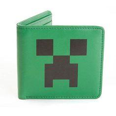 Jinx Minecraft Creeper Face Green Bi Fold Leather Wallet Licensed for sale online Minecraft Toys, How To Play Minecraft, Minecraft Stuff, Mojang Minecraft, Minecraft Merchandise, Zombie Shirt, Best Wallet, Leather Bifold Wallet, Lego Marvel